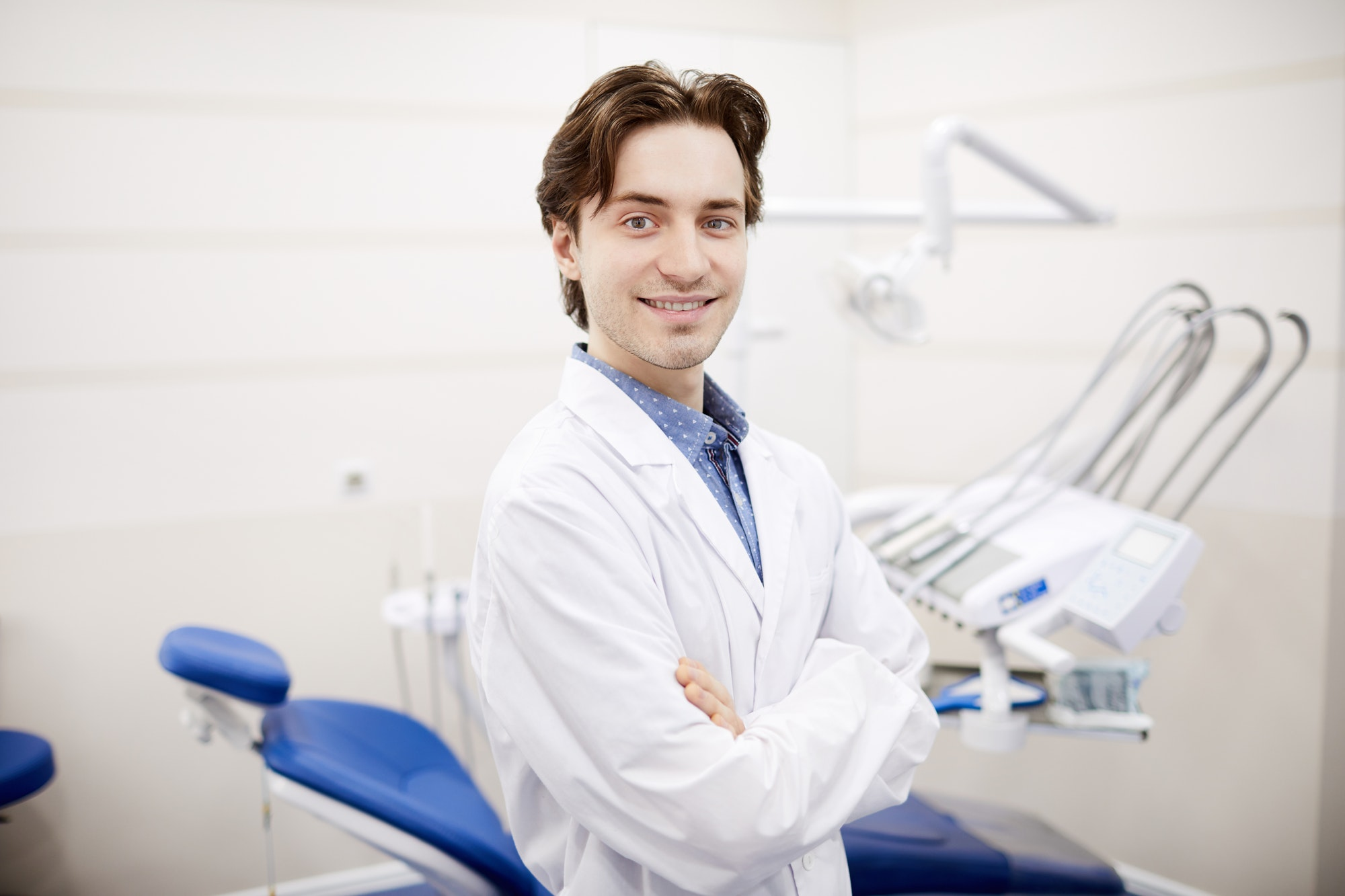 Young Dentist Posing